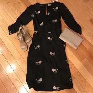 ASOS NWT Black Floral Dress